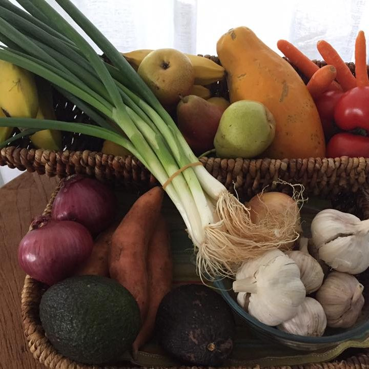 A wholesome basket of fruits and vegetables